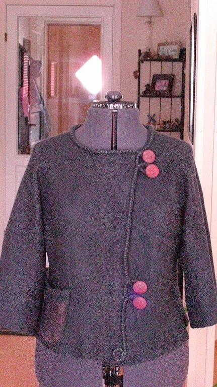 Верхняя одежда ручной работы. Ярмарка Мастеров - ручная работа. Купить курточка летняя. Handmade. Курточка цвета антрацит, вискоза