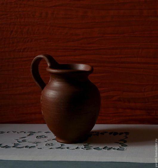 Графины, кувшины ручной работы. Ярмарка Мастеров - ручная работа. Купить Кувшин 16 см. Handmade. Терракота, Керамика