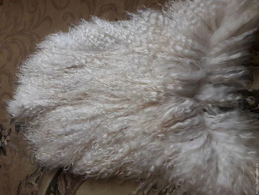 Органайзеры для рукоделия ручной работы. Ярмарка Мастеров - ручная работа. Купить Кучирявая шкурка козы. Handmade. Белый, волосы для кукол