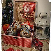 Для дома и интерьера handmade. Livemaster - original item Christmas box Apple and cinnamon. Handmade.