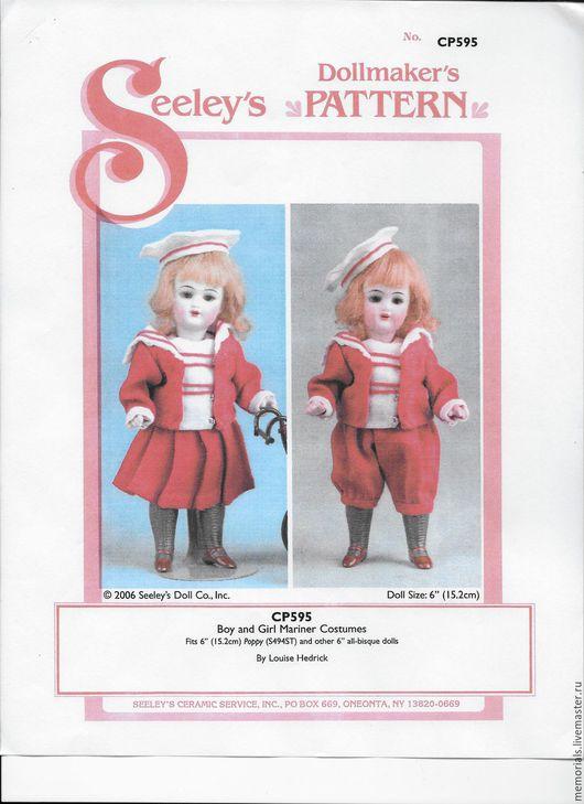 Куклы и игрушки ручной работы. Ярмарка Мастеров - ручная работа. Купить Выкройка костюмчиков- морячков. Handmade. Комбинированный, выкройки, выкройка