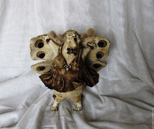 Коллекционные куклы ручной работы. Ярмарка Мастеров - ручная работа. Купить Мотылёк. Handmade. Интерьерная кукла, мотылек