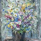 handmade. Livemaster - original item Watercolor painting bouquet From childhood. Handmade.