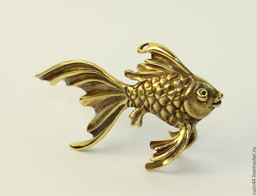Миниатюрные модели ручной работы. Ярмарка Мастеров - ручная работа. Купить Золотая рыбка большая. Handmade. Золотая рыбка, Литье