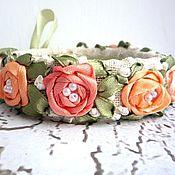 """Украшения ручной работы. Ярмарка Мастеров - ручная работа Браслет """"Кремовые розы"""". Handmade."""