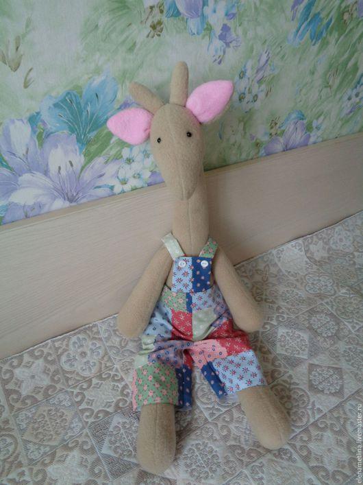 Куклы Тильды ручной работы. Ярмарка Мастеров - ручная работа. Купить Тильда игрушка - Жирафчик. Handmade. Комбинированный, в клеточку, хлопок