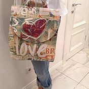 """Сумки и аксессуары ручной работы. Ярмарка Мастеров - ручная работа Гобеленовый рюкзачок """"Граффити"""". Handmade."""