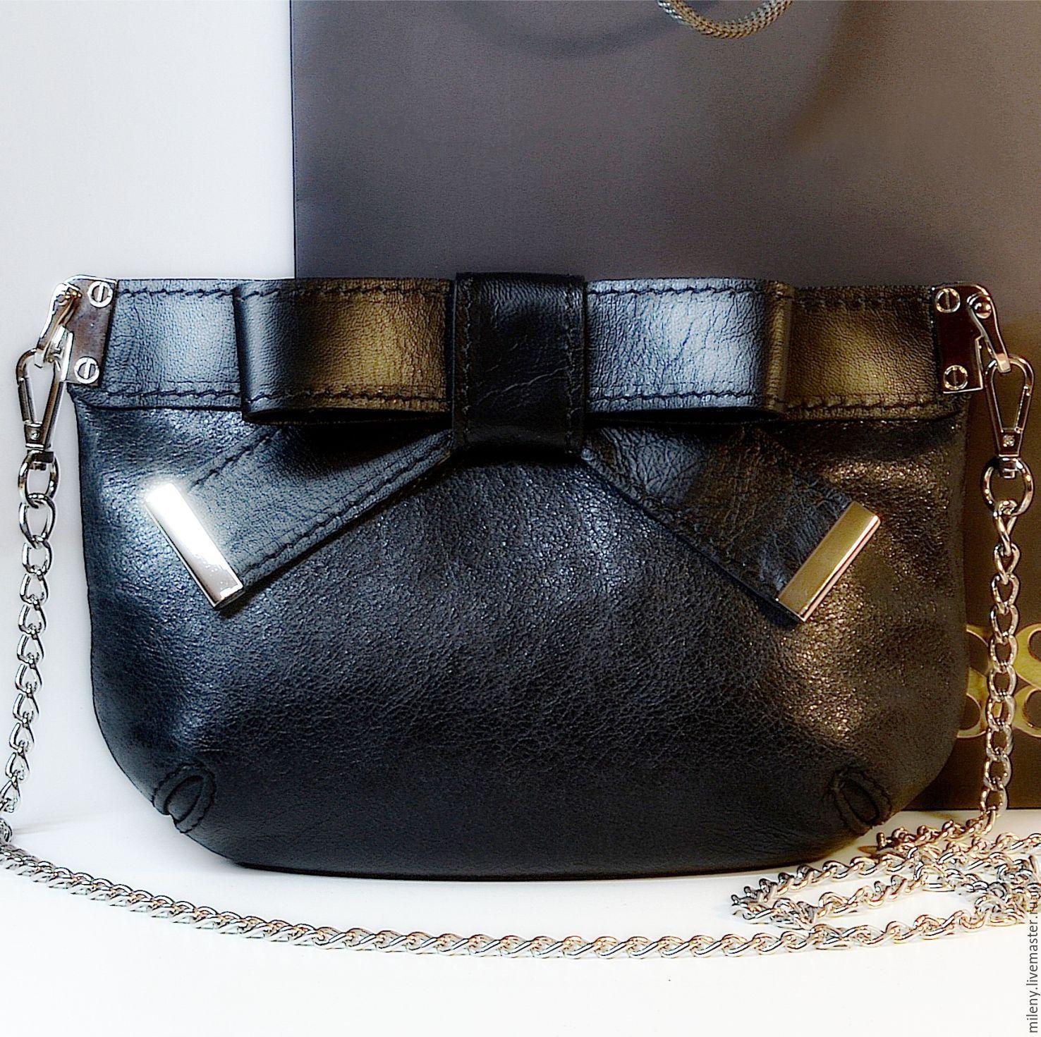 05984c3633f8 Сумка кожаная женская черная.Маленькая сумочка через плечо на цепочке