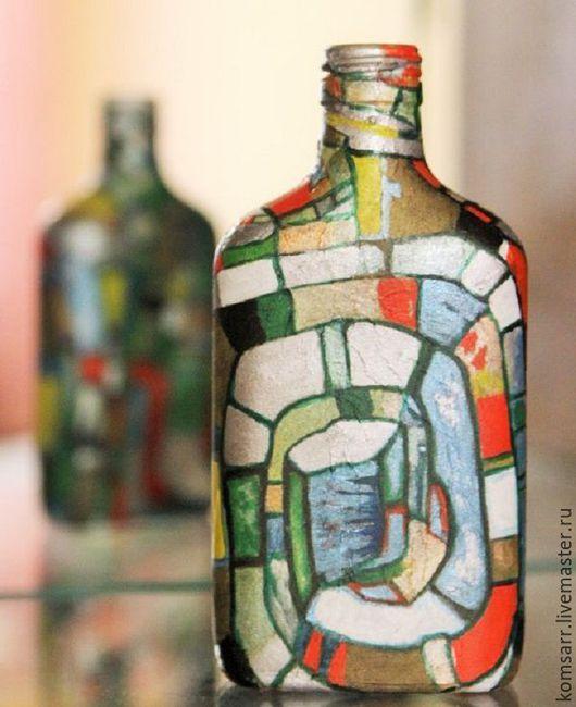 Декоративная посуда ручной работы. Ярмарка Мастеров - ручная работа. Купить Бутылка Абстракция. Handmade.  Абстрактный рисунок, абстракция