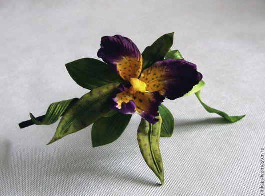 """Диадемы, обручи ручной работы. Ярмарка Мастеров - ручная работа. Купить Ободок орхидея """"Лесная нимфа """". Handmade."""