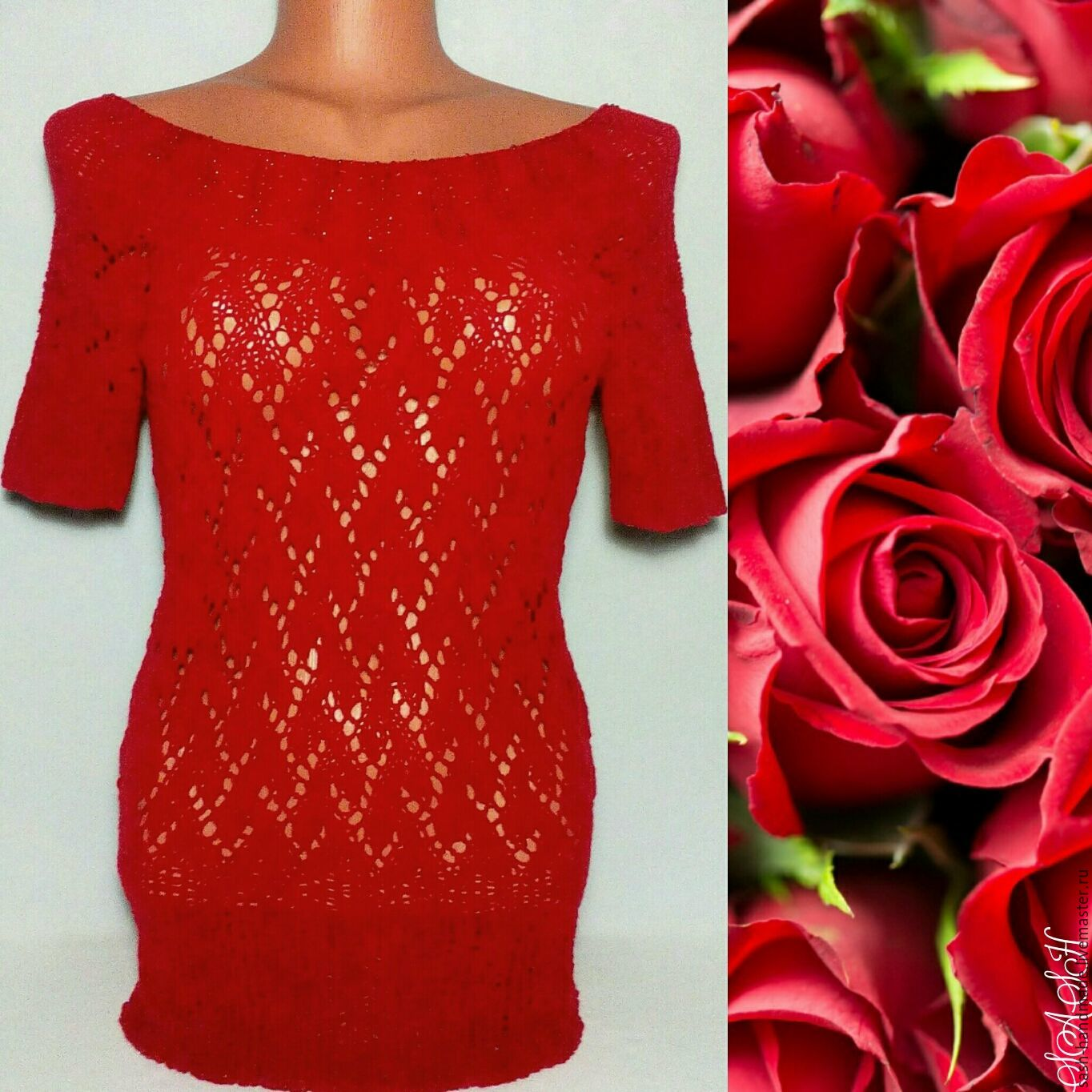 Pullover 'Red velvet rose', Pullover Sweaters, Ufa,  Фото №1