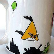 Посуда ручной работы. Ярмарка Мастеров - ручная работа Кружка Angry Birds. Handmade.
