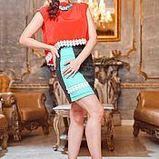 Одежда ручной работы. Ярмарка Мастеров - ручная работа Стильная юбка из жаккаржа. Handmade.