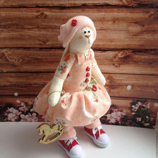 Куклы Тильды ручной работы. Ярмарка Мастеров - ручная работа. Купить Зайка Каролина. Handmade. Комбинированный, ручная авторская работа
