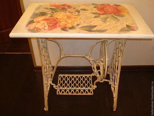 Мебель ручной работы. Ярмарка Мастеров - ручная работа. Купить Столик для компьютера. Handmade. Декупаж, сделано с любовью, прованский стиль