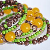 Bead bracelet handmade. Livemaster - original item Bracelet of five rows of