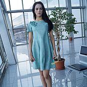 Одежда ручной работы. Ярмарка Мастеров - ручная работа Валяное платье Запах  мяты. Handmade.