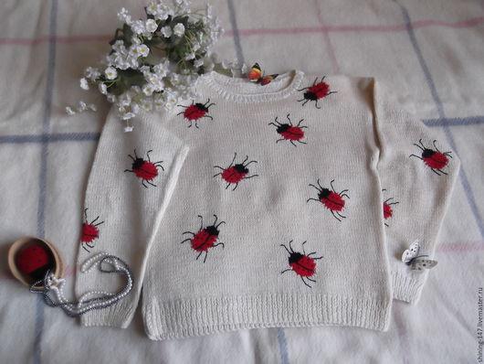 Одежда для девочек, ручной работы. Ярмарка Мастеров - ручная работа. Купить Кофта для девочки 9-11 лет. Handmade. Белый