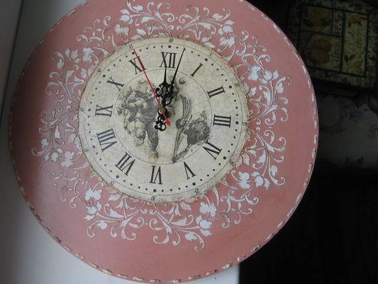 """Часы для дома ручной работы. Ярмарка Мастеров - ручная работа. Купить Часы Настенные """"Нежное Прикосновение"""". Handmade. Часы настенные"""