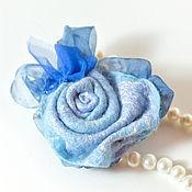 """Украшения ручной работы. Ярмарка Мастеров - ручная работа Брошь """"Голубая роза"""". Handmade."""
