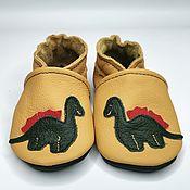 Одежда детская handmade. Livemaster - original item Dinosaur Baby Shoes, Kids` Shoes, Baby Moccasins, Ebooba. Handmade.
