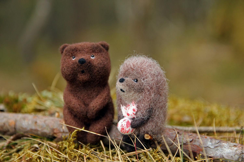 Смешные фото медвежат с ежиком