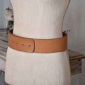 Аксессуары handmade. Livemaster - original item Women`s wide leather belt. Handmade.