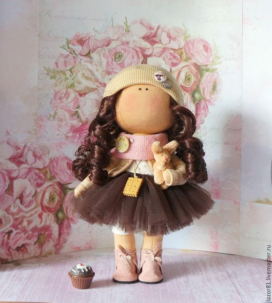Коллекционные куклы ручной работы. Ярмарка Мастеров - ручная работа. Купить Шоколадка. Handmade. Коричневый, кукла Тильда, интерьерная кукла