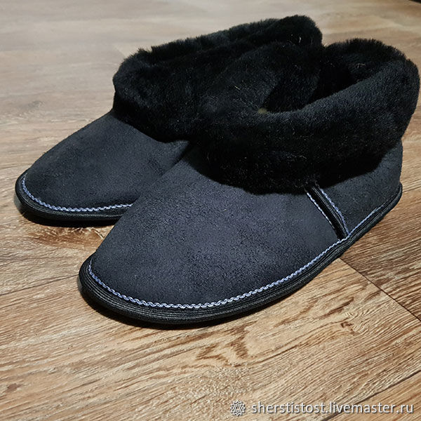 85b726c7e5235 Slippers for man made of natural sheepskin – купить на Ярмарке ...