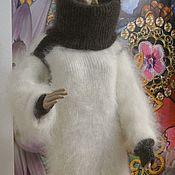 Одежда handmade. Livemaster - original item Sweater Long Fluffy Thick Warm T-nek collar goat down 100%. Handmade.