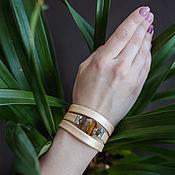 Украшения handmade. Livemaster - original item Bracelet regaliz beige wide. Handmade.