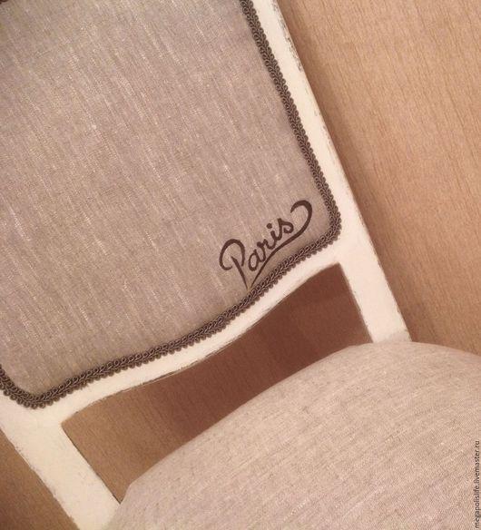 """Мебель ручной работы. Ярмарка Мастеров - ручная работа. Купить Стул """"Из Парижа с любовью"""".. Handmade. Серый, графика рисунок"""