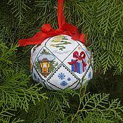 Подарки к праздникам ручной работы. Ярмарка Мастеров - ручная работа Вышитый шар. Handmade.