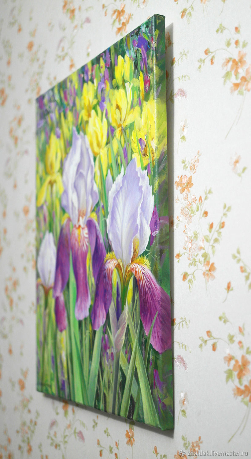 The painting irises shop online on livemaster with shipping online shopping flower paintings handmade order the painting irises zhaldak eduard paintings izmirmasajfo