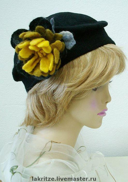 """Шляпы ручной работы. Ярмарка Мастеров - ручная работа. Купить Шляпа """"Осеннее золото"""". Handmade. Черный агат"""