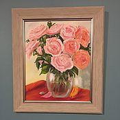 Картины ручной работы. Ярмарка Мастеров - ручная работа Розовые Розы. Handmade.