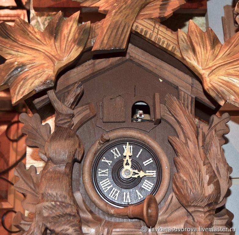 d9153242b0 LAVKANASUVOROVA (LAVKANASUVOROVA) Vintage Interior Decor. Wall clock with  cuckoo and music Germany. LAVKANASUVOROVA (LAVKANASUVOROVA) ...
