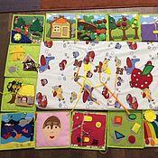 Куклы и игрушки ручной работы. Ярмарка Мастеров - ручная работа Разивающий коврик, который складывается в книгу. Handmade.