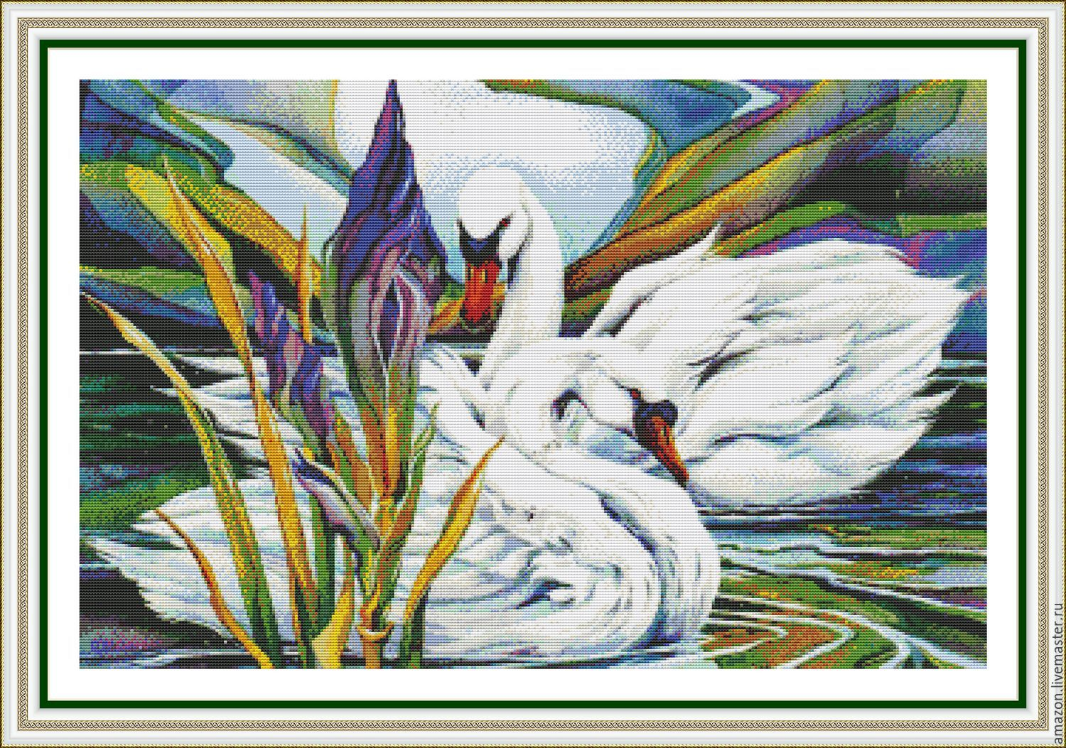 pair of SWANS – to family happiness and fidelity.
