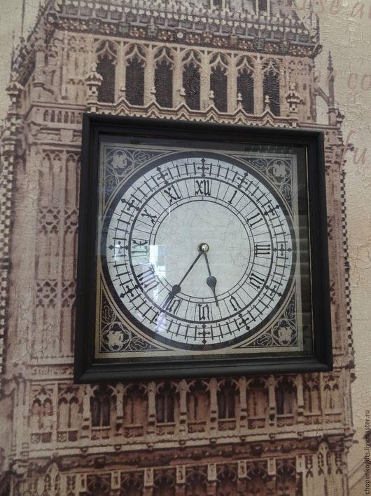 """Часы для дома ручной работы. Ярмарка Мастеров - ручная работа. Купить Часы """"Биг Бен"""". Handmade. Коричневый, часы настенные"""