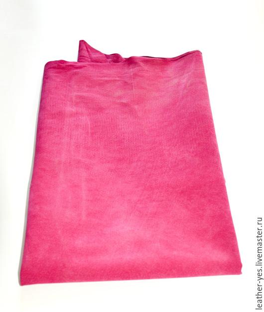 Шитье ручной работы. Ярмарка Мастеров - ручная работа. Купить Кожа натуральная, розовая, Е02. Handmade. Фуксия