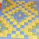 Пледы и одеяла ручной работы. Ярмарка Мастеров - ручная работа. Купить Лоскутное одеяло  Солнечные ручейки. Handmade. Синий, одеялко