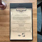 Канцелярские товары ручной работы. Ярмарка Мастеров - ручная работа Планшет под меню для кафе, ресторана и бара. Handmade.