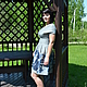 Платья ручной работы. Заказать Платье из жаккардовой ткани Райский сад-1. Сударыня. Ярмарка Мастеров. Синий, шерсть