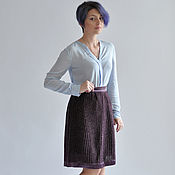 Одежда handmade. Livemaster - original item skirt purple knitted jersey with lurex. Handmade.
