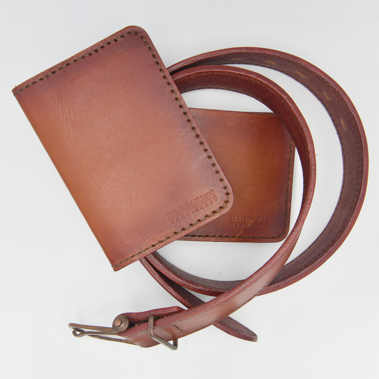 Belt, purse, passport cover made of genuine leather, Straps, Lyubertsy,  Фото №1