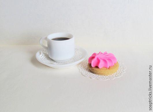 Мыло ручной работы. Ярмарка Мастеров - ручная работа. Купить Мыльный набор Кофе с пирожным. Handmade. Комбинированный, безе