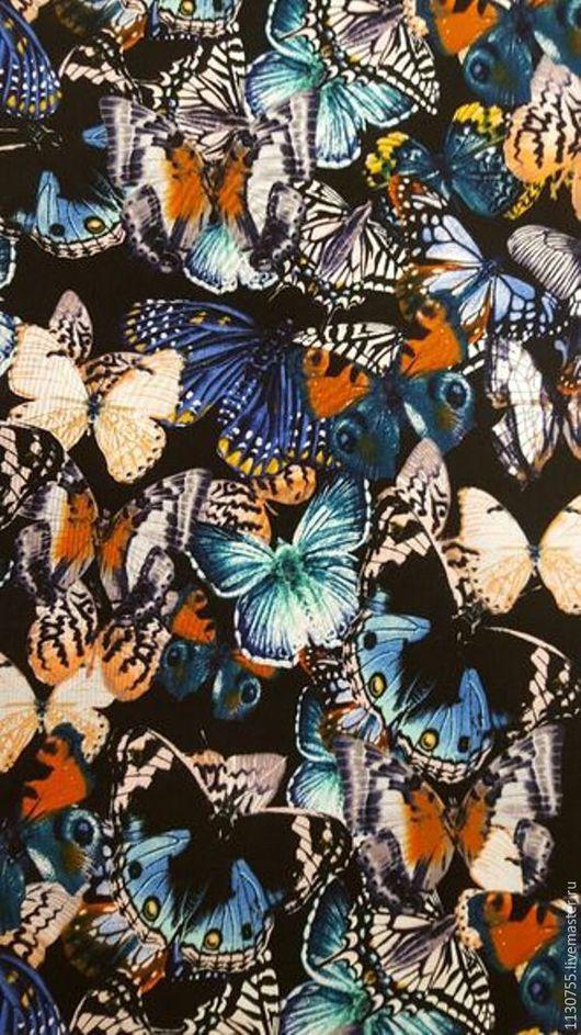 Шитье ручной работы. Ярмарка Мастеров - ручная работа. Купить ткань штапель  бабочки цв.2. Handmade. Комбинированный
