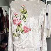 """Одежда ручной работы. Ярмарка Мастеров - ручная работа Для Вас!Модный костюм с вышивкой""""Прекрасный цветок"""". Handmade."""