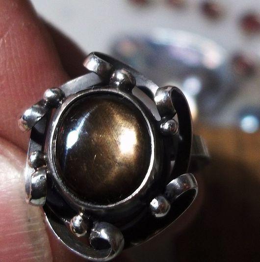 """Кольца ручной работы. Ярмарка Мастеров - ручная работа. Купить Кольцо со звёздчатым сапфиром """"Звезда"""". Handmade. Кольцо"""